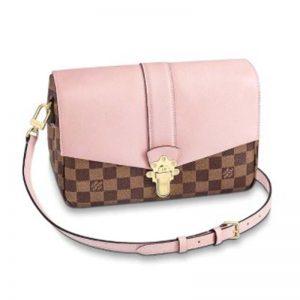 Louis Vuitton LV Women Clapton Bag in Damier Ebene Canvas Grained Calf Leather