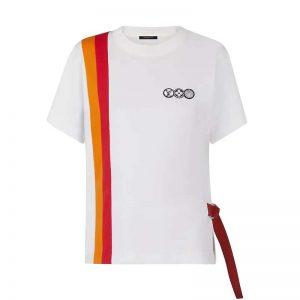 Louis Vuitton LV Women LV Airline Patches T-Shirt-White