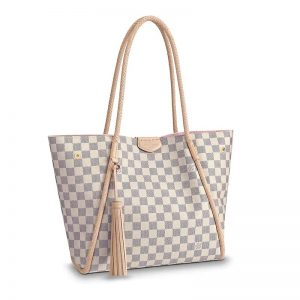 Louis Vuitton LV Women Propriano Shoulder Tote Bag-Sandy and Grey
