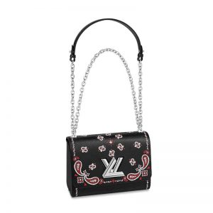 Louis Vuitton LV Women Twist MM Handbag in Emblematic Monogram Blossoms