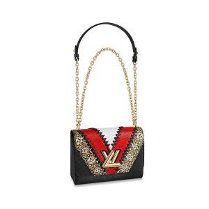 Louis Vuitton LV Women Twist MM Handbag in Grained Epi Leather