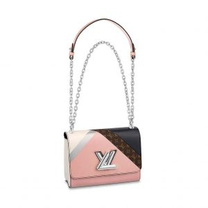 Louis Vuitton LV Women Twist MM Handbag in Printed and Embossed Calfskin