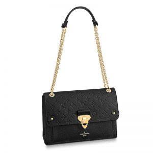 Louis Vuitton LV Women Vavin MM in Monogram Empreinte Leather-Black