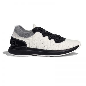 Chanel Women Mixed Fibers Sneakers 1cm Heel-Black