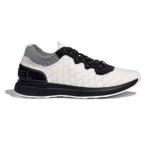Chanel Women Mixed Fibers Sneakers 1cm Heel-Black