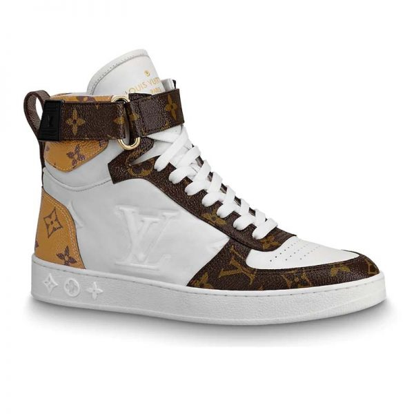 Louis Vuitton LV Unisex Boombox Sneaker Boot in Embossed Lamb Leather-Brown