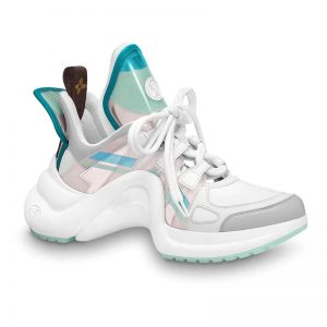Louis Vuitton LV Women LV Archlight Sneaker in Leather and Technical Fabrics-Aqua