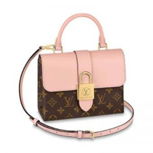 Louis Vuitton LV Women Locky BB Bag in Monogram Coated Canvas and Smooth Cowhide Leather-Pink