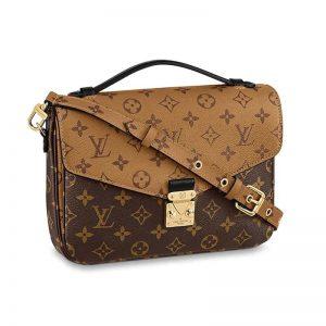 Louis Vuitton LV Women Pochette Métis Bag in Monogram Reverse Coated Canvas-Brown