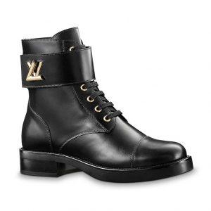 Louis Vuitton LV Women Wonderland Ranger Boot in Plain Calf Leather-Black