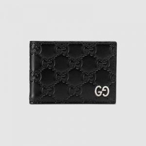 Gucci GG Men Gucci Signature Wallet in Black Gucci Signature Leather