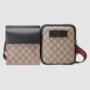 Gucci GG Unisex GG Supreme Belt Bag GG Supreme Canvas