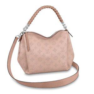 Louis Vuitton LV Women Babylone Chain BB Handbag in Mahina Perforated Calf Leather-Pink