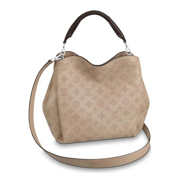 Louis Vuitton LV Women Babylone PM Bag in Mahina Perforated Calf Leather-Sandy