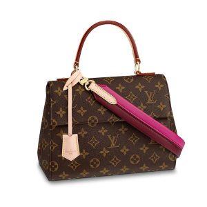 Louis Vuitton LV Women Cluny BB Handbag in Monogram Canvas-Rose