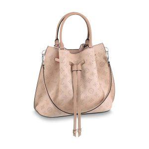 Louis Vuitton LV Women Girolata Bag in Mahina Calfskin Leather-Pink