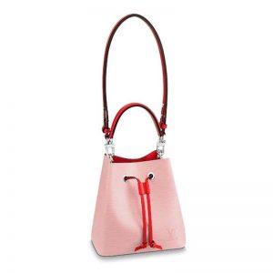 Louis Vuitton LV Women NéoNoé Bucket Bag in Epi Grained Cowhide Leather-Pink