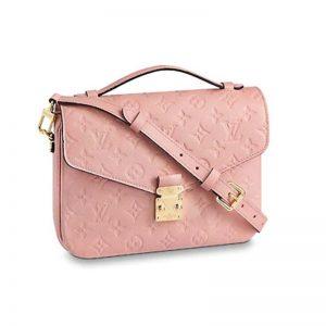 Louis Vuitton LV Women Pochette Métis Handbag in Monogram Empreinte Leather-Pink