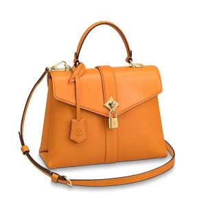 Louis Vuitton LV Women Rose Des Vents PM Handbag in Grained and Smooth Calf Leather-Orange
