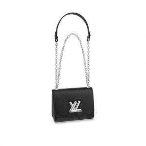 Louis Vuitton LV Women Twist PM Chain Bag in Grained Epi Leather-Black