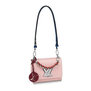 Louis Vuitton LV Women Twist PM Handbag in Rose Ballerine Pink Epi Leather