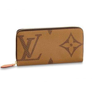 Louis Vuitton LV Women Zippy Wallet in Giant Monogram Reverse Canvas