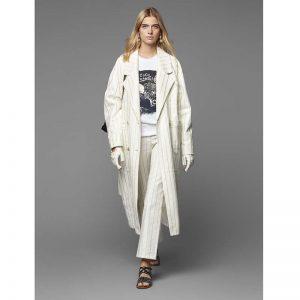 Chanel Women Sweatshirt in Cotton Black White Navy Blue & Silver