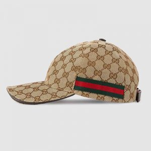Gucci Unisex Original GG Canvas Baseball Hat in Original GG Fabric-Beige
