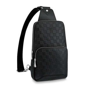 Louis Vuitton LV Men Avenue Sling Bag in Damier Infini Leather-Black