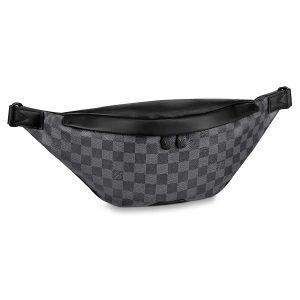 Louis Vuitton LV Men Discovery Bumbag in Damier Graphite Canvas-Grey