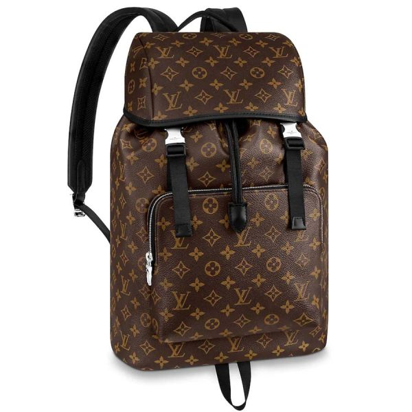 Louis Vuitton LV Men Zack Backpack in Coated Canvas-Brown
