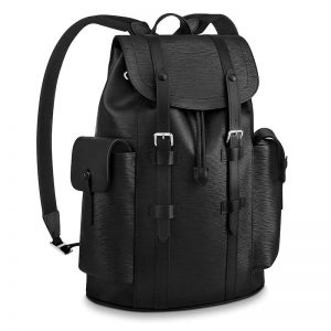 Louis Vuitton LV Unisex Christopher PM Backpack in Cowhide Leather-Black