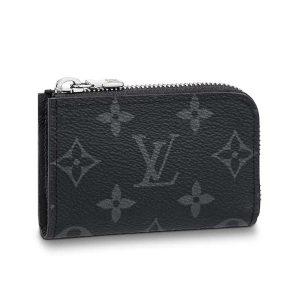 Louis Vuitton LV Unisex Coin Purse in Masculine Monogram Eclipse-Black