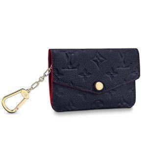 Louis Vuitton LV Unisex Key Pouch Wallet in Monogram Empreinte Leather-Navy