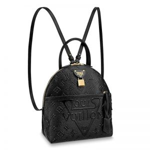 Louis Vuitton LV Unisex LV Moon Backpack in Smooth Calfskin Leather-Black