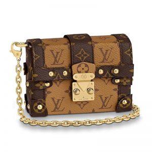 Louis Vuitton LV Women Essential Trunk Bag in Monogram Coated Canvas-Chocolate