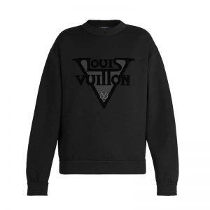 Louis Vuitton LV Women LV Midnight Sweatshirt in Cotton Jersey-Black