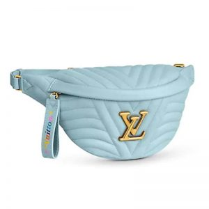 Louis Vuitton LV Women New Wave Bumbag in Quilted Calf Leather-Aqua
