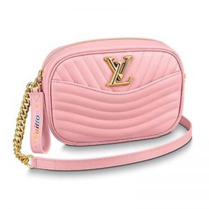 Louis Vuitton LV Women New Wave Camera Bag in Quilted Calf Leather-Pink