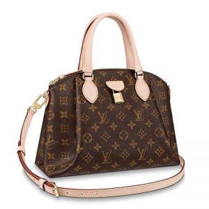 Louis Vuitton LV Women Rivoli PM Handbag in Monogram Coated Canvas-Brown