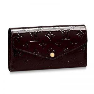 Louis Vuitton LV Women Sarah Wallet in Monogram Vernis Patent Calf