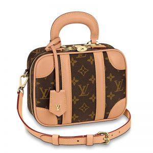 Louis Vuitton LV Women Valisette BB Handbag in Monogram Canvas-Brown