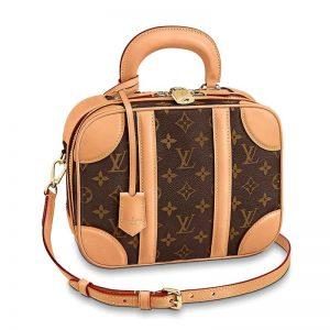 Louis Vuitton LV Women Valisette PM Handbag in Monogram Canvas-Brown