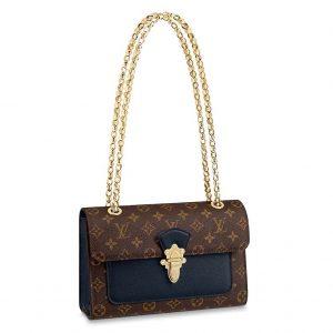 Louis Vuitton LV Women Victoire Chain Bag in Monogram Coated Canvas-Navy
