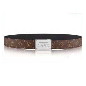 Louis Vuitton Men LV Neo Inventeur Reversible 40mm Belt in Monogram Canvas-Brown