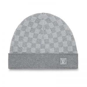Louis Vuitton Unisex Petit Damier Hat NM in Iconic Damier 100% Wool-Grey