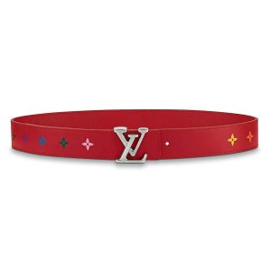 Louis Vuitton Women LV New Wave 35mm Belt in Calf leather-Red