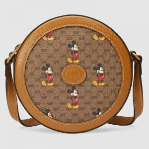 Gucci GG Unisex Disney x Gucci Round Shoulder Bag-Brown