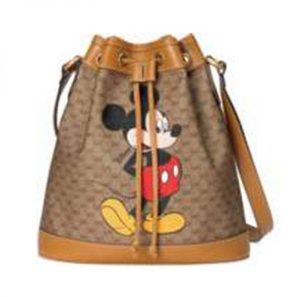 Gucci GG Unisex Disney x Gucci Small Bucket Bag GG Supreme Canvas