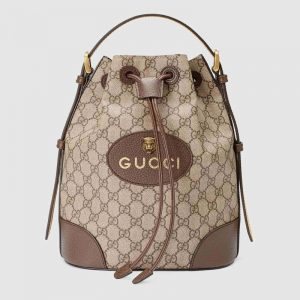 Gucci GG Unisex Neo Vintage GG Supreme Backpack-Brown